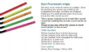 SOCX Flourecent Arrow wraps - 5.5mm/8.0mm/10.3mm
